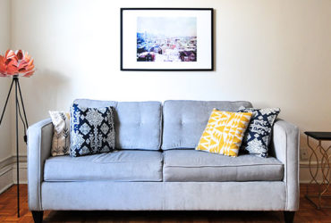 Blue Fabrics Loveseat Sofa for Sale